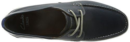 Clarks Karlock Step Herren Bootsschuhe Blau (Navy Leather)