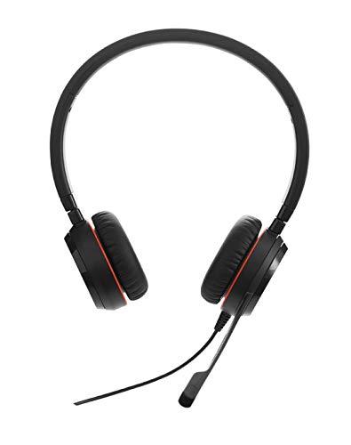 Jabra Evolve 20SE UC Stereo professionelles VoIP-Softphone USB-Kabel-Headset für Unified Communications mit weichen Kunstleder-Ohrpolstern