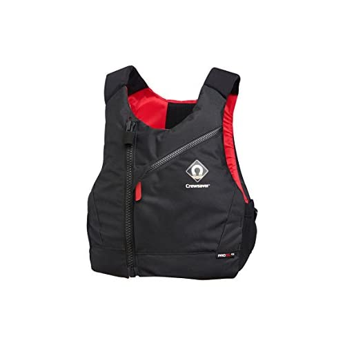 31bMwF81gzL. SS500  - Crewsaver Boating and Sailing - Kids Youth Junior Pro 50N Chest Zip Buoyancy Aid Black Red - Lightweight. Breathable…