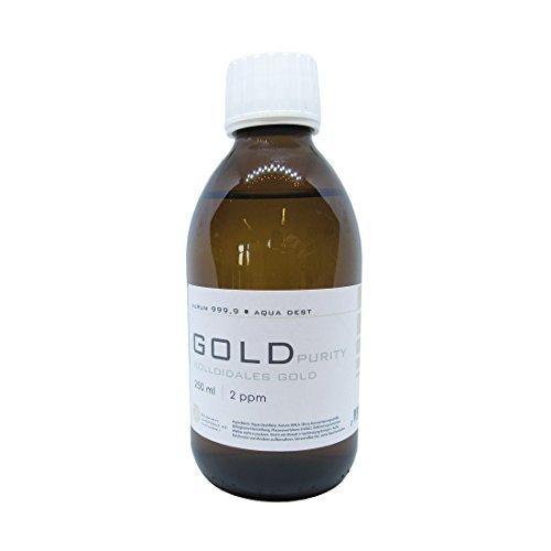 Kolloidales Gold 250ml | 2ppm Flasche Braunglas Originalitätsverschluss pure
