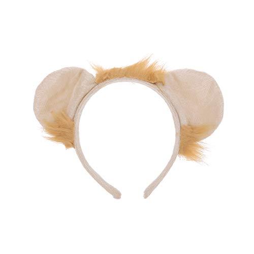 Amosfun Löwe Ohren Stirnband Haarreif Tier Kostüm Zubehör für Kinder Halloween Party Cosplay (Löwe Kostüm Ohren)