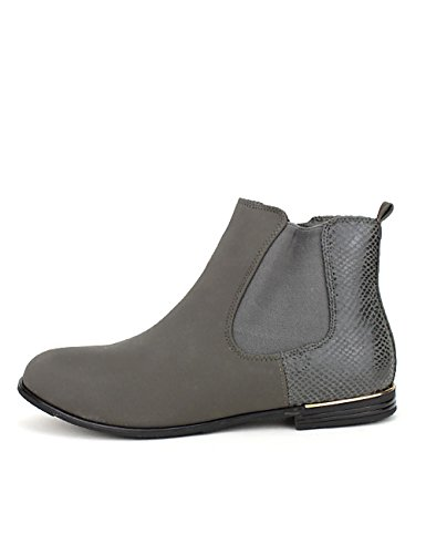 Cendriyon Bottine Grise AMOKA Chaussures Femme Gris