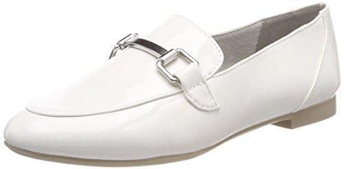 24207, Mocassins Femme, Blanc (White Patent), 38 EUMarco Tozzi