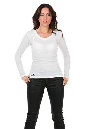 tee shirt femme manches longues / Chemise imprime élément jour de 3Elfen - Slim Fashion Noir