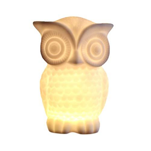 Qinlee LED Eule Lampe Nachtlicht Kinder Spielzeug Lampe Schlafzimmer Dekoration USB Ladelicht Lampe Licht Home Schlafzimmer Dekoration für Kinderzimmer Schlafzimmer-Stil-3 -