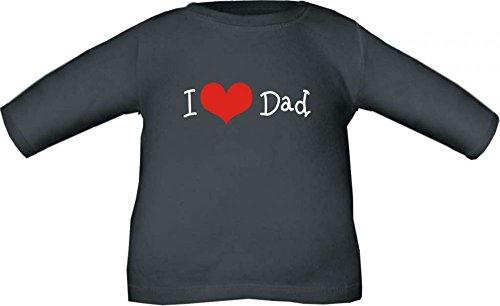 Baby / Kinder T-Shirt langarm I love Dad / Größe 60 - 152 in 6 Farben Schwarz