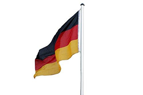 Fahnenmast Aluminium 6,20 Meter inklusiv Deutschland Fahne