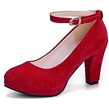 4a533143139 Mujeres Bombas otoño Zapatos Zapatos de tacón Alto Bombas Sexy Novia Fiesta  Fino tacón señaló Toe