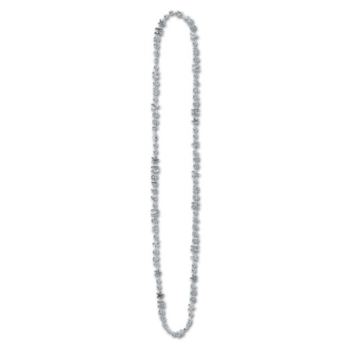 Beistle 144-pack Bulk Happy New Year beads-of-expression, 91,4cm
