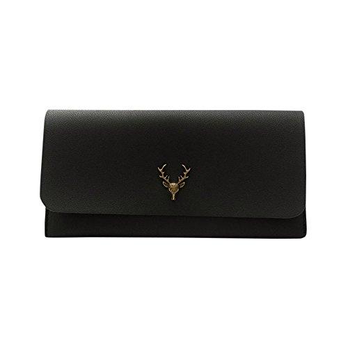 ESAILQ Mode Femmes Portefeuille en cuir d'embrayage porte-cartes bourse zéro sac Wallet
