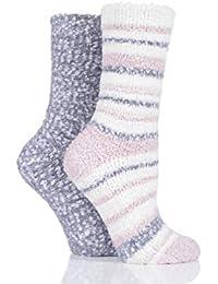 baf1b9c8df2 totes Ladies Twin Cosy Popcorn Socks