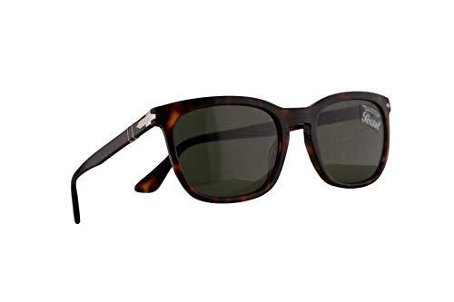 Persol 3193-S Sonnenbrille Havana Braun Mit Grünen Gläsern 55mm 2431 PO 3193S PO3193S PO3193-S
