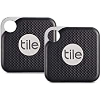 Tile Pro with Replaceable Battery - Black, Pack of 2