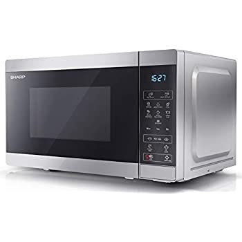 Silver Sharp R270SLM Standard Touch Control 800W 20L Freestanding Microwave