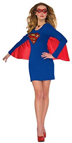 Rubies Costume Co. Inc DC Women's Supergirl Cape Dress ()