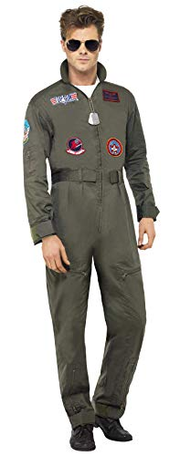 Hollywood Kostüm Mottoparty - Smiffys Herren Top Gun Deluxe Kostüm,