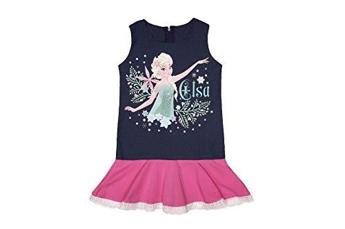 Eiskönigin Mädchen Jeans-Kleid Kleidung in Grösse 104 110 116 122 128 134 140 für 3 4 5 6 7 8 9 10 Jahre, Rosa, Geschenk Größe 110 - Große Kinder-eis-blau-kleidung