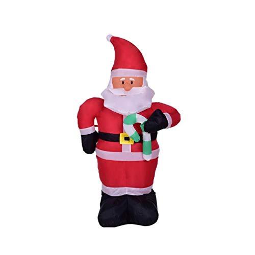 Unbekannt Weihnachtliches Aufblasbares Modell, Aufblasbarer Klein Rohr-Weihnachtsmann, Eingebaute LED-Leuchten -