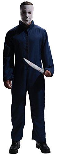 """ael Myers für Erwachsene, Offizielle Verkleidung aus dem Horrorfilm """"Halloween"""", mit Maske, Größe XL (Maya-halloween-kostüm)"""