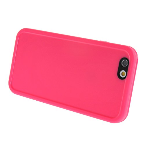 """MOONCASE pour Apple iPhone 6 Plus / 6S Plus (5.5"""") Case 2 in 1 Silicone Gel TPU Housse Coque Etui Case Cover Hot Rose Hot Rose #0201"""