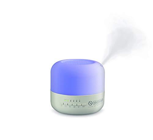 Olimpia Splendid 99408 Astomi Sound Aroma Diffusore Umidificatore con Cromoterapia e Timer, SpeakerBluetooth per Musica, 100-240 V, Blu