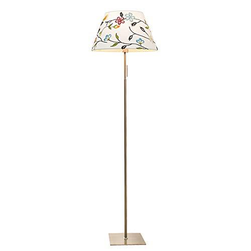 Amerikanische Eisenstehlampe Kreative Stickerei Wohnzimmer Stehlampen Für Das Schlafzimmer, Φ24cm H156cm E27