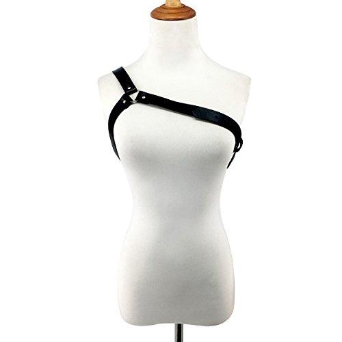 Homelex Punk Leder Body Brustgurte Taille Harness Straps Einstellbar Für Damen (LB-003)