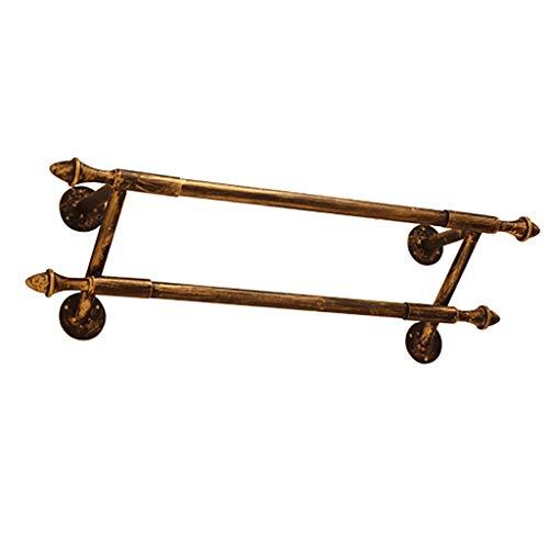 Bronze 2 Rod Kleiderständer Wandhalterung, kommerzielle Kleidung Display Rod, hängende Lagerung Kleiderständer (Size : 80x20x25cm) (Wandhalterung Rack Tie)