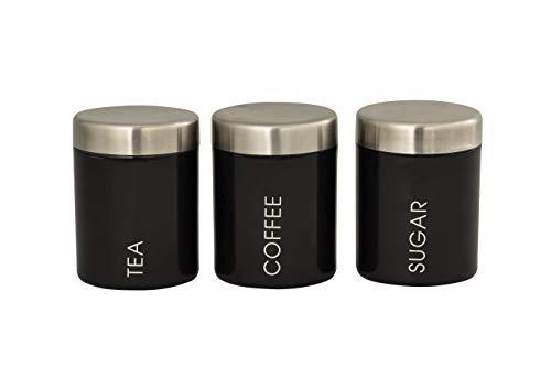 EHC Set of 3 Airtight Tea Sugar ...