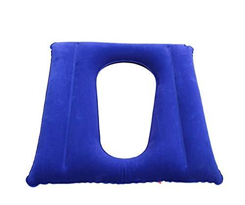 Aufblasbares WC-Sitzkissen WC-Kissen & Rollstuhl Anti-Dekubitus-Kissen für ältere Patienten,Flocking