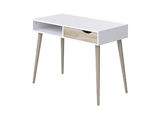 Movian Havel Scandinavian - Escritorio con 1 cajón, 50 x 100 x 75 cm (blanco)