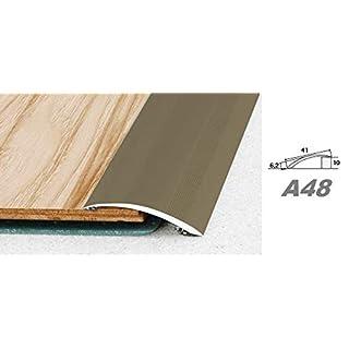 Aluprofile, Bodenleiste Profil Innendekor, Alu Höhenausgleichsleiste 41x6mm, A48, Länge:2.00 Meter, Farbe:Champagne