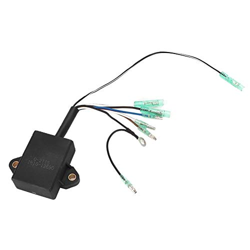Kimiss auto motor zündspule cdi abs cdi zündeinheit box montage ersatz zubehör tool system fit für 9.9 15 2-takt außenborder (schwarz)