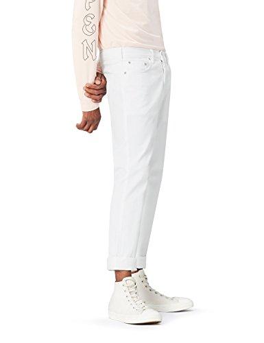 Wash Tapered Leg Jeans (FIND Herren Schmal zulaufende Jeans, Weiß (White Wash), W31/L34 (Herstellergröße: 31))