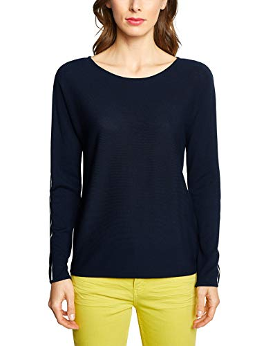 Street One Damen 300911 Pullover, deep Blue, (Herstellergröße:44) -