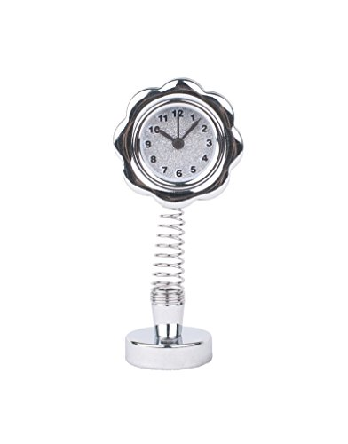 Khiam 11 Horloge fleurie avec dock - Blanc