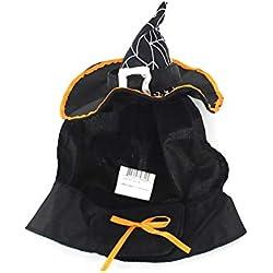 Rocita Halloween Gato Gorro de Bruja Mascota Asistente Headwear para Gatos y Perros pequeños Disfraz de Fiesta