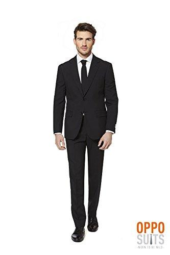 Opposuit Black Knight Anzug schwarz Slimline Premium 3-teilig Gr. 62 (Mens Black Anzug Kostüme)