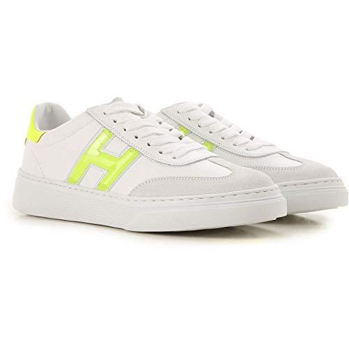 Hogan H365 Zapatillas Sneakers Zapatos Sneaker Scarpe De Piel para Mujer Woman Blanco Size 37 EU
