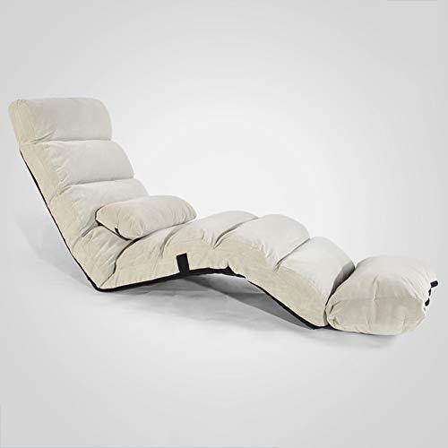 VIVOCCChair Falten Faul Sofa Sessel, Mit verstellbare rückenlehne Tatami Fußboden Stuhl Schlafsofa Couch Lounge Chair Bay-Fenster Zum lesen Office Home -N 175x54cm(69x21inch)