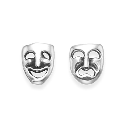 Komödie Masken - Silber Komödie und Tragödie Ohrstecker Ohrringe