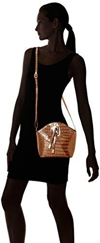 SwankySwans  Alex Croc Patent Leather Shoulder Bag Tan, Sacs bandoulière femme Marron (Beige)
