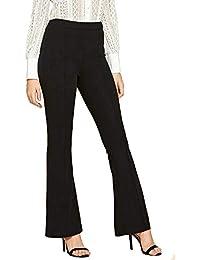 Shocknshop Regular Fit Elastic Waist Flare Hem Trousers for Ladies/Girls/Women's (28)