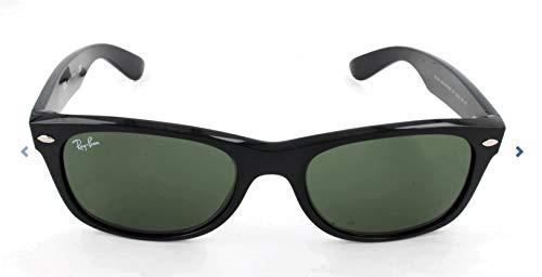 Ray-Ban Unisex-Erwachsene 0rb2132 Sonnenbrille, Black/Cleargradientgreen, 55
