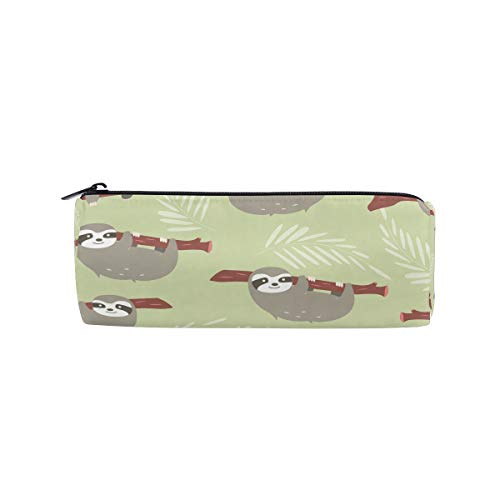 (bonipe Cute Faultier mit Ärmeln Print Bleistift Tasche Schule Stationery Pen Box Reißverschluss Kosmetik Make-up-Tasche)