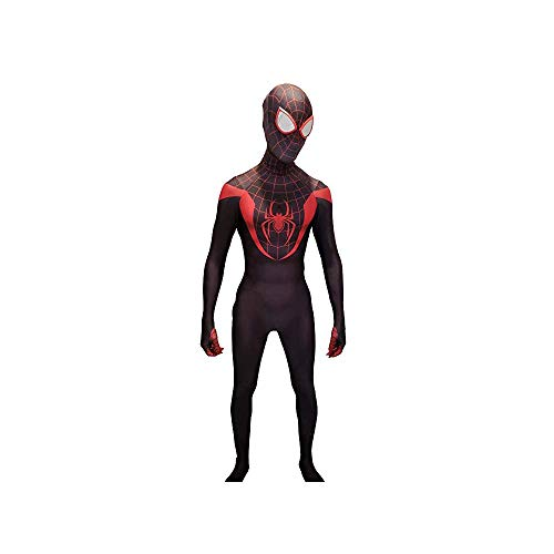 Morales Kostüm Miles Spiderman - Miles Morales Cosplay Costume - Into the Spider-verse (Groß)