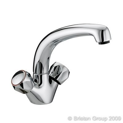 Bristan VAC SNK C MT Club Monobloc Chrome Plated Sink Mixer with Metal Heads by Bristan