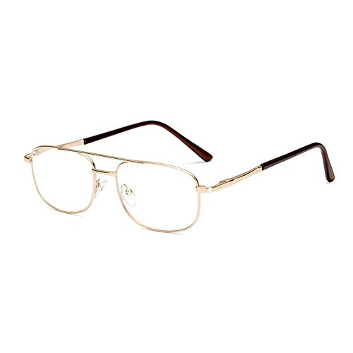 GEMSeven Metallrahmen Business Lesebrille Double Beam Springs Scharniere Presbyopie-brille Für Männer - Frühjahr Lesebrille
