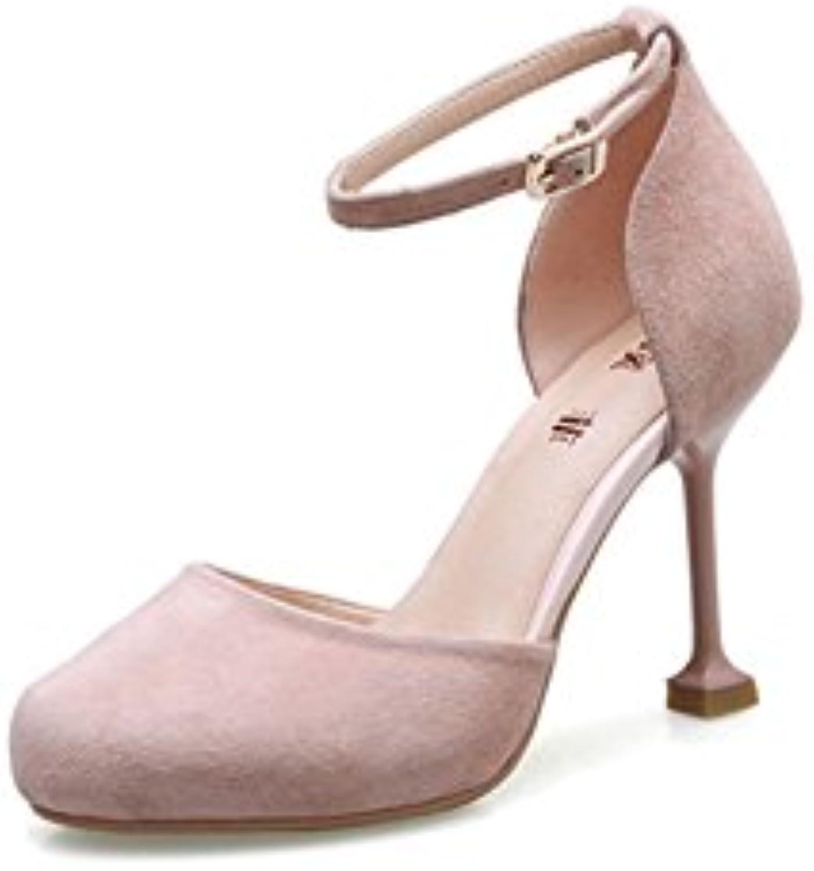 XUERUI Nuove Scarpe col Tacco Alto con Scarpe da Sposa rosa rossoonde Sexy Bocca Fibbia Scarpe superficiali Scarpe... | Lasciare Che Il Nostro Commodities Andare Per Il Mondo  | Uomo/Donne Scarpa