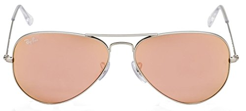 New Ray Ban Aviator RB3025 019/Z2 Silver/Crystal Brown Mirror Pink 58mm Sunglasses